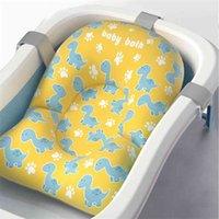 Baby Shower Bath Tub Pad Non-Slip Bathtub Mat born Safety Nursing Security Bath Support Soft Comfort Body Cushion Pillow 210924