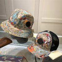 Moda Pato Impresso Pescador Chapéus Cartas Completas Designer Unisex Ball Ball Basin Caps Casal Mulheres Homens Caps Summer Travel Cap
