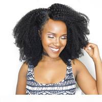 Afro brasiliano Afro Capelli umani ricci 2 3 Bundles 10-20 pollici Ricci Virgin Virgin Human Extensions Afro Kinky Curly Weaves Venditori di capelli