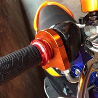 Poignée en alliage d'aluminium de moto universelle poignée de guidon de guidon Poignées d'accélérateur de motocyclette pratique