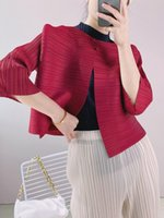 Women's Jackets 2021 Early Autumn One-button Jacket Women Miyak Fold Loose And Versatile Solid Color Thin Short Cardigan