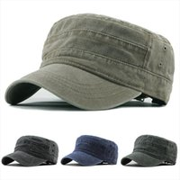 Moda Düz Üst Şapka Kapaklar Erkek Vintage Askeri Açık Unisex Rahat Pamuk Asker Denim Güneşlik Katı Beyzbolkap