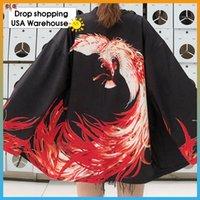 Etnik Giyim Japon Güneş Kremi Kimono Ceket Kadın Hırka Kimonos Kadın 2021 Cosplay Gömlek Bluz Yaz Plaj