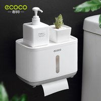 Tissue Boxes & Napkins Nailless Waterproof Bathroom Toilet Paper Box Short Multi-functional Dispenser Wall Hanging Storage Holder Ecoco