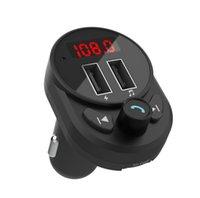 Transmetteur FM Bluetooth 5.0 Dual USB Chargeur de voiture Kit mains libres Adaptateur radio Prise en charge de la carte SD U Disk Playback