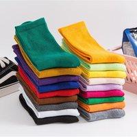 Salina damas calcetines invierno primavera año nuevo tubo corto ordinario moda 18 puro color colocación deportes ocio com jllldpr