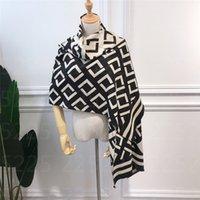 패션 디자이너 겨울 캐시미어 스카프 여성 2021 큰 크기 인쇄 풀라로드 링 럭셔리 스카프 180-65cm 스카프 두꺼운 두건