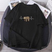 Women's T-Shirt Crazy Sloth Print Woman T-shirts Summer High Quality Tees 2021 Clothing Lady Fashion Short Sleeve Tops Casual Female