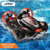 RC Boat 2.4G 2 en 1 Amphibions Drift Car Remote Control Remoto Car Hovercraft Speed Boat RC Stunt Coche para niños Modelo Modelo al aire libre