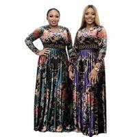Ethnic Clothing Fashion Printed Summer Sexy Silk Bazin Riche Brocade Dress Long Full Length Women Wedding Nigeria Traditional Dresses