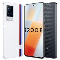 Original Vivo IQOO 8 5G Mobile Phone 12GB RAM 256GB ROM Snapdragon 888 Octa Core 48MP AR NFC Android 6.56 inch AMOLED Full Screen Fingerprint ID Face Wake Smart Cellphone