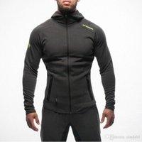 Mens Bodybuilding Hoodies Gym Workout Shirts Hooded Sport Suits Tracksuit Men Chandal Hombre Gorilla wear Animal