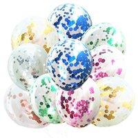 Decoración de la fiesta 5/10 unids 12 pulgadas brillo confeti látex globos boda navidad bebé baby baby dure dure globos