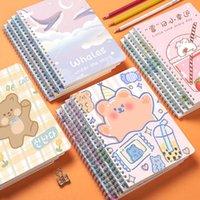 크리 에이 티브 만화 B5 ivange 코일 책 두꺼운 60 A5 노트북 귀여운 한국 학생 메모장