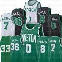 NCAA Tatum 8 Kemba 7 Jaylen Walker 0 Jayson Brown 36 Marcus Hommes Smart Smart Basketball Jerseys Theis Ojeleye Nesmith Jersey A2