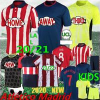 Tailandés 20/21 Joao Felix Atlético de Madrid Jerseys de fútbol Campeones Koke Madrid Saul Correa Thomas Lemar 2020 Camisetas de fútbol