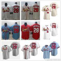 Hombres cosidos Mujeres Niños 28 Nolan Arenado Jerseys Blanco Azul Red Gris Crema Béisbol Camisas Lady Youth Mejor Calidad