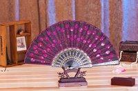 Neue modische Pailletten Peacock-Fan Handgemachte Tanzhand-Fans Tanzen liefert viele Farben vorhanden DWB11120