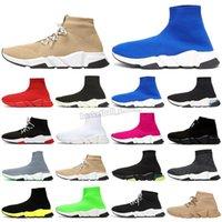 مرونة للغاية محبوك المرأة الجوارب أحذية المشي balencaiga أحذية رياضية أسود أبيض أحمر جورب الأحذية الدانتيل الرجال الرياضة حذاء رياضة الحجم 36-45