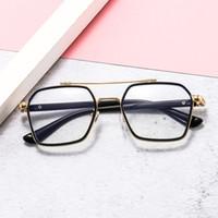 Vestito MOB MOB KRO Specchio piatto, personalità Blocchetti di occhiali myopia fotogramma anti-blu Retro metallo a doppio raggio