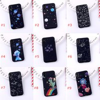 Creative starry sky suitable for iPhone 11 Pro 12 Max Phone Case X XS Max 7 8p XR Frosted Soft TPU Protective Cover
