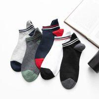 Männer Socken Glückszone 5 Paare / los Bootsfeder Stickerei Baumwolle Fünfzeige Sterne Sport und Freizeit ZXZ
