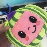 Dessin animé créativité cocomélon poupée poupée poupée bandbody sac ji petit garçon poupée de melon d'eau Mini messenger sacs bébé sac à main sacs g75ng7y