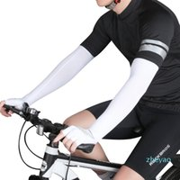 Elbow & Knee Pads 2pcs Outdoor Cycling Long Finger Ice Silk Cool Arm Sleeves Quick Dry UV Sunscreen Cuff Breathable Warmer