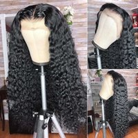 13*4 Lace Frontal Wig Transparent Wet And Wavy Curly Human Hair Brazilian Pre Plucked Naturalhairline Bleach Knots Malaysian Deep Wave