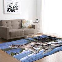 3D Wolf напечатанные ковры для гостиной постельное белье прихожая большая прямоугольник площадь йоги коврики современные открытые напольные ковры дома 710 к2