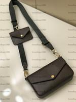 Bolso de hombro de la cadena de 2 piezas Bolso de las mujeres bolsas de la tarde de la señora Moda de la cadena de la cadena de la señora Bolso del hombro del bolso del bolso del bolso del mensajero 80091