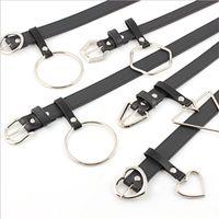 Belts Black PU Leather Waist Belt 2021 Female Punk Jeans Waistband Big O Ring Metal Buckle For Women Exaggerated Cinturon