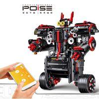YX RC موازنة سيارة روبوت بناء كتلة لعبة، diy قابل للبرمجة، تحريض الجاذبية، التحكم الصوتي، بلوتوث المتكلم، ل هدية عيد الميلاد للأطفال