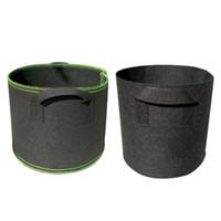 Serie Premium 1-30 Gallon Plant Grow Bags Borse Heavy Duty Container 300g Pentole piante in tessuto non tessuto addensato 300g Pentole da 5 galloni con maniglie