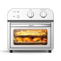Eletrodomésticos Air Fritos Pequenas Cozinha 1500W 4 Fatia Convection AirFryer Forno da Contragem, Reaquecimento, Fry Oil-Free, Aço inoxidável
