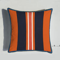 Nuevo 45 * 45 cm Serie de naranja CUBIERTAS CUBIERTAS CUBIERTAS FLORES DE CABALLO Funda de almohada de impresión para la silla de hogar Sofá Decoración Pillowcases EWE5184