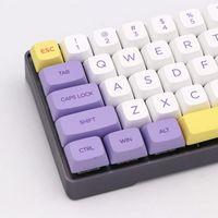 XDA Profil Süblimasyon PBT Kiraz MX Anahtarı Mekanik Oyun Klavye için Klavye 143 Tuşlar Dondurma Tasarım Anahtar Kapaklar