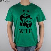 Designer homens e mulheres de manga curta camisetas WTF Panda World Wildlife Fund Desafio Bem humorado Entretenimento de Caridade Engraçada