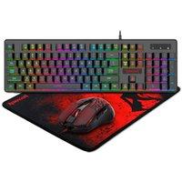 RedRagon S107 Игровая клавиатура и мышь Mousepad Combo 3 в 1 Комплект игр
