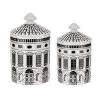 Neuschwanstein castelo castelo castelo velas jarro retro armazenamento bin cerâmica craft decoração home caixa de armazenamento jewerlly