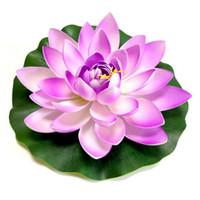 1 stücke künstliche schwimmende lotus für aquarium ask tank teich wasser lilie lotus künstliche blumen hause garten brunnen dekoration