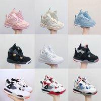 Neue 4s Kinder Basketballschuhe Chicago 4 Säuglingsjunge Mädchen Sneaker Kleinkinder Mode Baby Trainer Kinder Schuhe