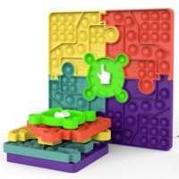 Formas de rompecabezas Fidget Tablero de ajedrez Push Bubble Toy Party Favor de Partido 10.62 pulgadas Silicona Estrés Alivio Dimplo Sensor Juguetes Seaway FWF9889
