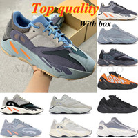 Kanye 700 V2 Corredor Zapato Sólido gris inercia MNVN Naranja Fosfor 2021 Hombres Mujeres Zapatillas Running Zapatillas Azul Azul Atnatas Estándares Deportes Zapatillas deportivas