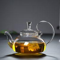 1 шт. 600 мл Теплостойкие с высокой ручкой Цветочный кофейный стеклянный чайный котел Цветущий китайский стеклянный чайники 250 S2