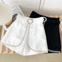 Pantaloncini da donna Ashgaily 2021 Diamond Bow Slim Wide Gamba A-Line Sexy Estate Modo