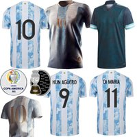 Toptan Arjantin Dünya Kupası Futbol Forması 2021 Messi Ev Di Maria Aguero Tayland Kalite Dybala Futbol Gömlek 2022