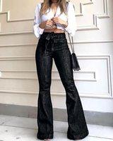 Women's Jeans Women High Waist Denim Flare Pants Streetwear Black Skinny Sexy Vintage Ladies Flared Trousers Bell Bottom Autumn Fashion