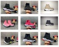 Çocuklar Hız Eğitmenler 2021 Çocuk Çorap Eğitmen Yeni Yürüyor Bebek Bebek Ayakkabıları Neon Siyah Beyaz Kırmızı Mavi Pembe Erkek Kız Çocuk Kış Tasarımcısı Boot Sneakers Boyutu 7C-3Y 24-35