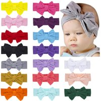 17 farben kinder bowknot stirnband baby mädchen reine farbe doppel bogen haar seil baby elastisch diy haar bogen haar zubehör c6936